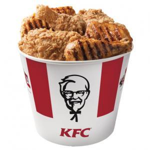 KFC Bucket Of Chicken Mascot