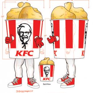 KFC Chicken Bucket Mascot Sketch