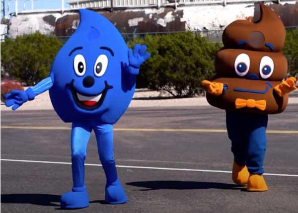 LooPoo and Wayne Drop Mascot Crossing The Street