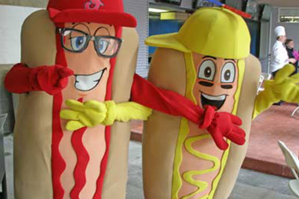 Cleveland Indians Tribe Hot Dogs Mascot Costumes