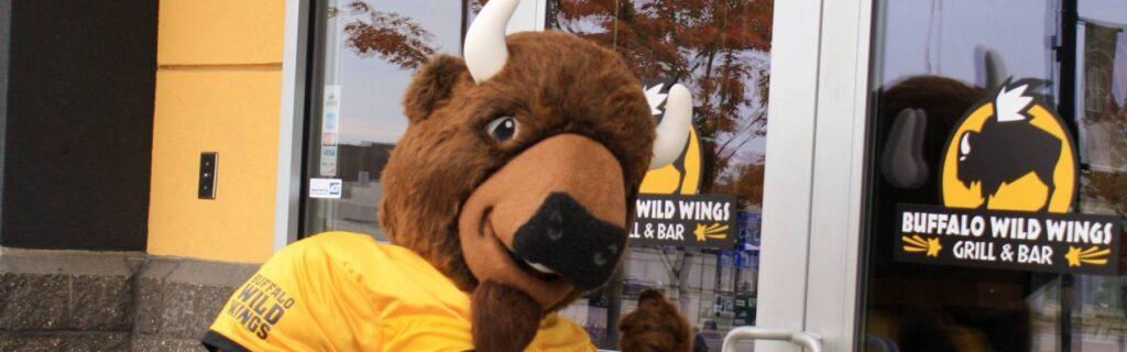 Buffalo Wild Wings Buffalo Mascot Costume