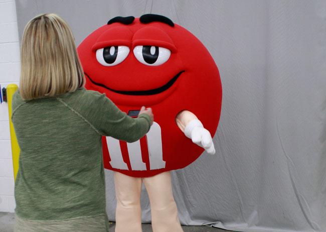 M&M Red Mascot Costume