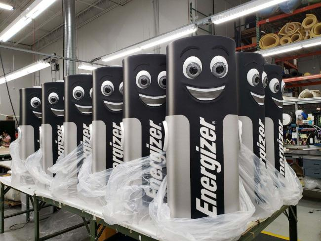 Energizer Batteries Mascots In Factory