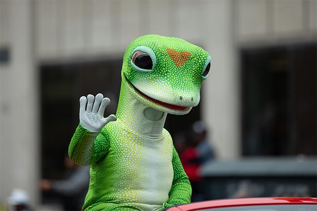 Geico Gecko Waving