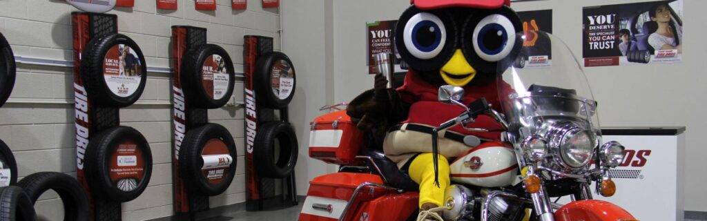 Hootie Own Tire Pros Mascot