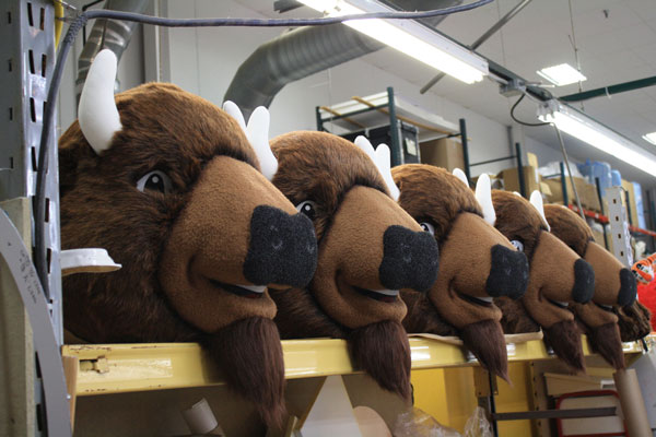Buffalo Wild Wings Head Mascot Costume