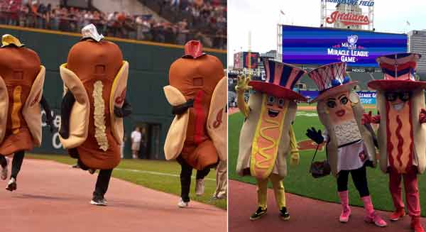 Redesign Tribe Hot Dog Mascots