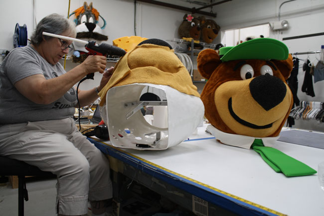 Mascot Head Being Created