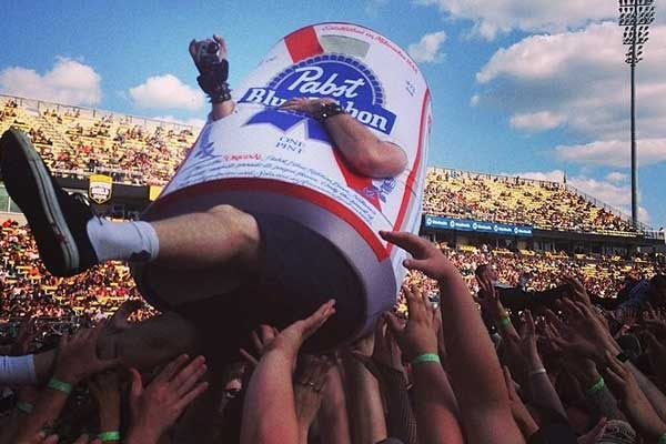 Foam Mascot Costume Pabst Blue Ribbon Beer