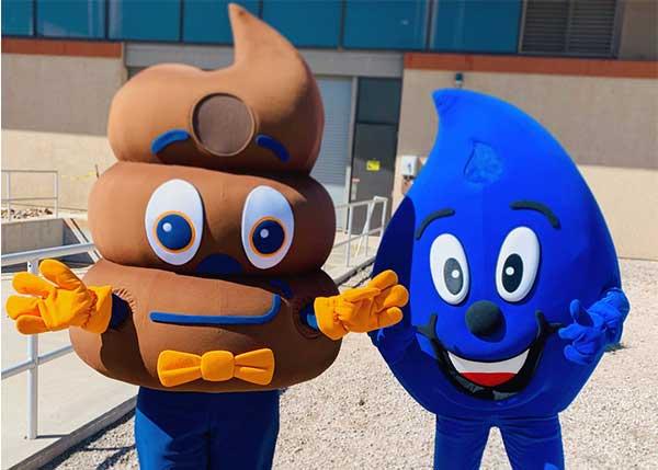 LooPoo and Wayne Drop Mascot Friends