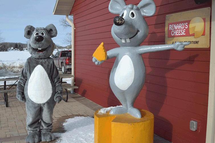 Renards Cheese Mascot Costume