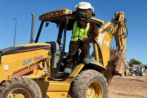 Buffalo Mascot on Heavy Duty Equipment