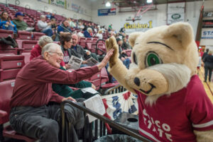 Chico State University Mascot Giving High Five
