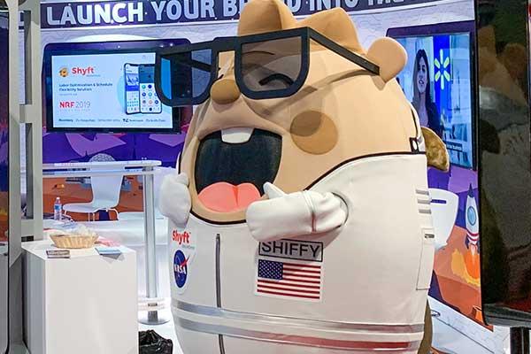 Shyft Mascot Costume With Glasses