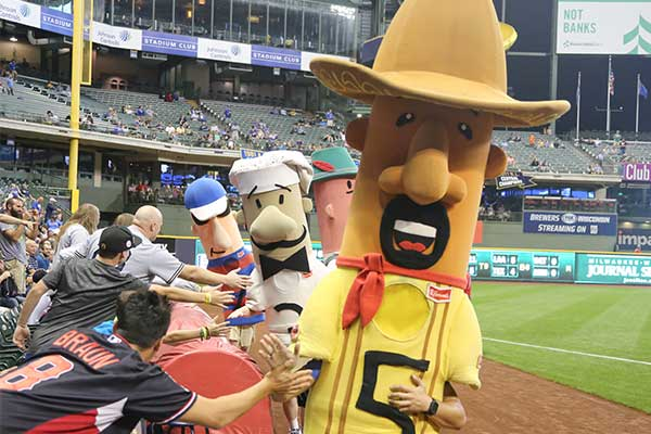 Milwaukee Brewers Racing Sausages Mascot Costumes