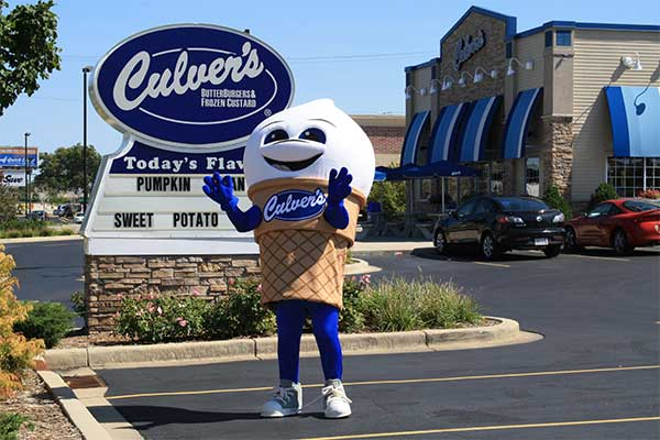 Culvers Ice Cream Mascot Costume