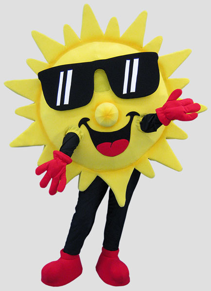 specialty mascot sun mascot weather mascot