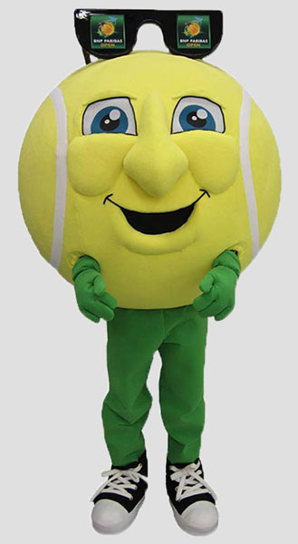 Sports Mascots tennis ball head man
