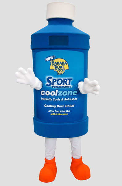 corporate mascot banana boat sunscreen
