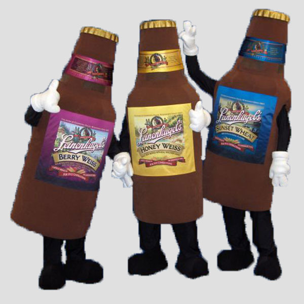 corporate mascot leinenkugels beer botles