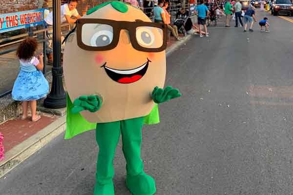 City of martin super soy soybean festival mascot