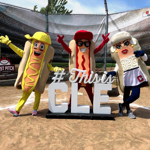 Cleveland Indians Racing Mascots