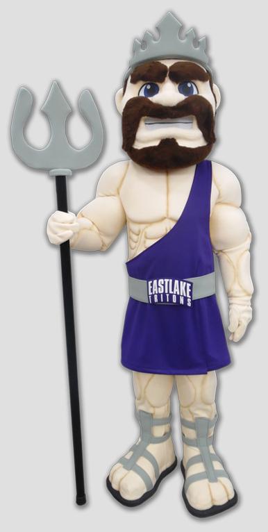 school mascot triton human mascot