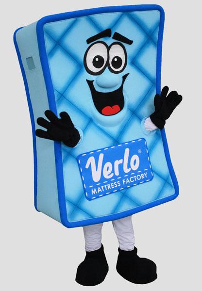corporate mascot verlo mattress