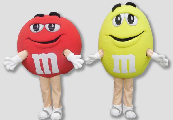 corporate mascot m&m