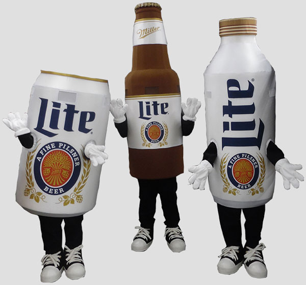 sports mascot racing beers