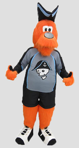 Sports Mascots raider wearing hockey gear
