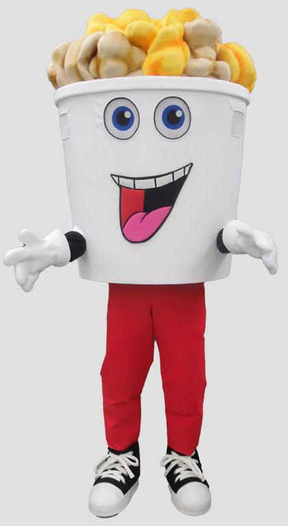 specialty mascot popcorn mascot food mascot