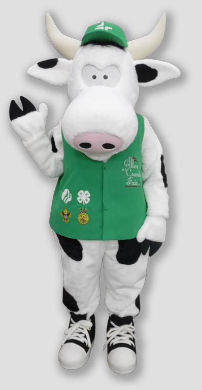 specialty mascot cow mascot