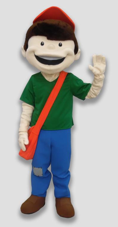 specialty mascot newsboy mascot human mascot