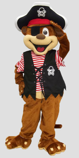 specialty mascot pirate mascot monkey mascot