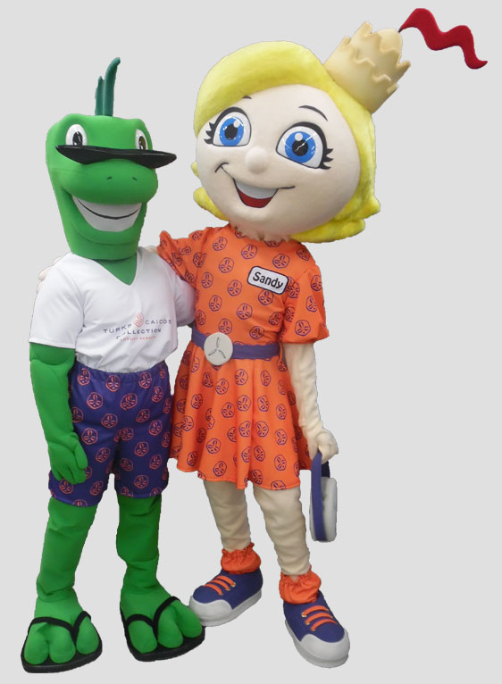 specialty mascot sand dollar mascot iguana mascot