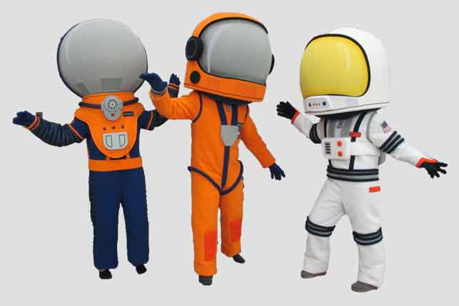 Sports Mascots three astronauts