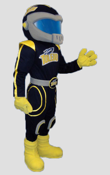 School mascot rocketman