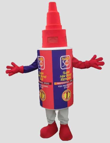 specialty mascot glue mascot bottle mascot