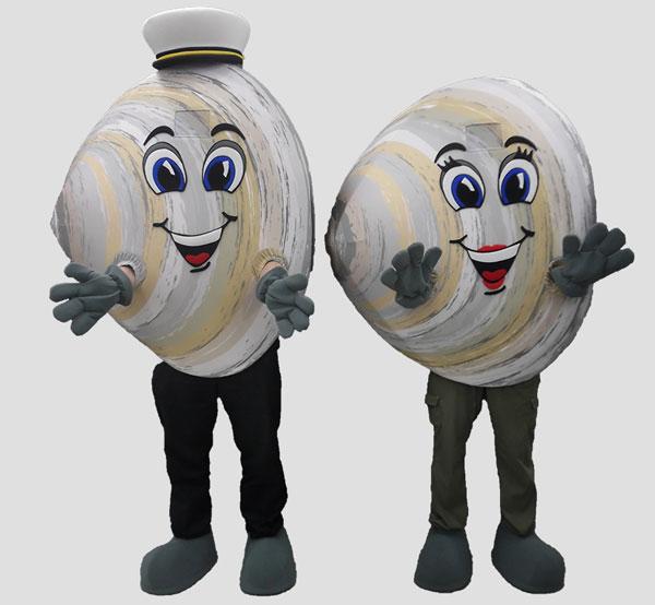 specialty mascot clam mascot beach mascot