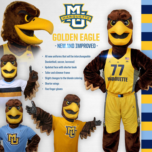 marquette university golden eagle mascot