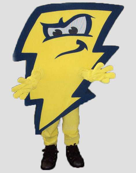 sports mascot lightning bolt