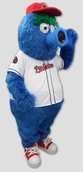 Sports Mascots monster wearing baseball uniform