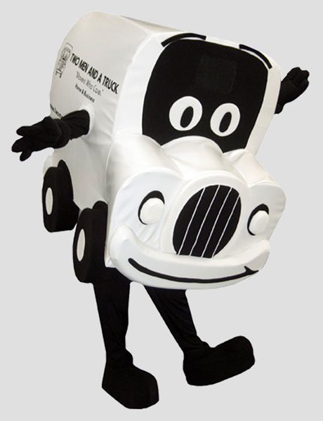 corporate mascot truckie for two men and a truck