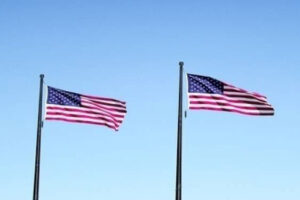United States Flags In Sky