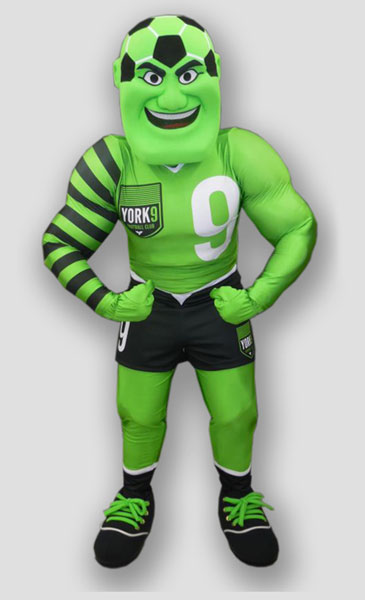 sports mascot soccer man