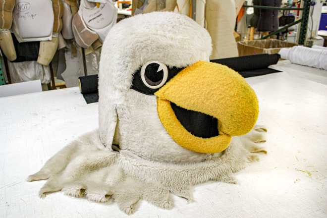 Eagle Head Mascot Cleaning