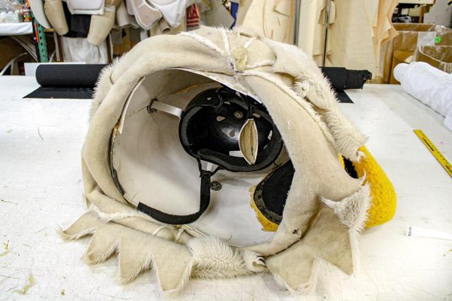 Inside a Mascot Head