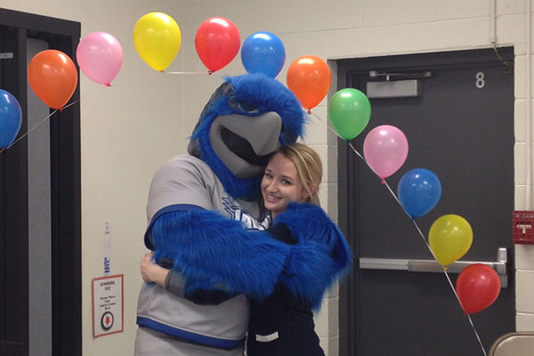 Harper College Bird Mascot Costume