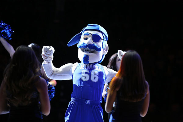 Seton Hall Pirate Mascot